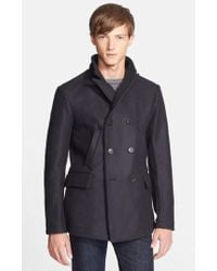 Billy Reid - 'bond' Wool Blend Peacoat - Lyst