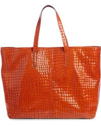 Dries Van Noten - Croc Embossed Leather Tote - Lyst