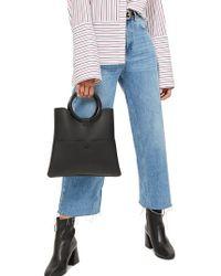 TOPSHOP | Wide Leg Crop Jeans | Lyst