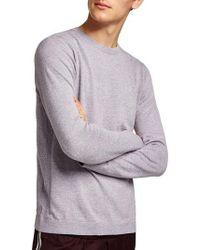 TOPMAN - Slim Fit Side Rib Sweater - Lyst
