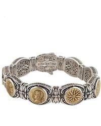 Konstantino   Bronze Coin Bracelet   Lyst