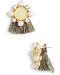 Mad Jewels - Madeline Fringe Stud Earrings - Lyst
