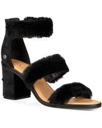 UGG - Ugg Dey Rey Genuine Shearling Sandal - Lyst