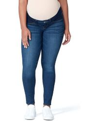 GOOD AMERICAN - Good Mama The Honeymoon Low Rise Maternity Skinny Jeans - Lyst