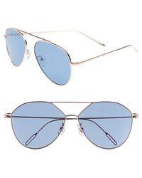 Vedi Vero - 59mm Metal Aviator Sunglasses - Lyst