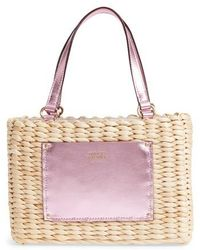 Frances Valentine - Small Woven Straw Tote - Lyst