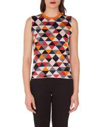 Akris - Diamond Jacquard Knit Cashmere & Silk Top - Lyst
