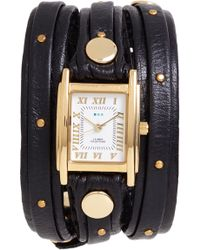 La Mer Collections - Studded Leather Wrap Watch - Lyst