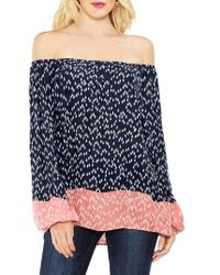 Two By Vince Camuto | Off The Shoulder Scatter Arrow Blouse | Lyst