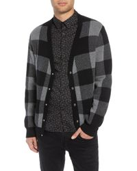 The Kooples - Regular Fit Check Wool Cardigan - Lyst
