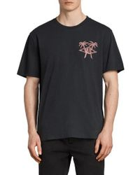 AllSaints - Barbed Palm Short Sleeve T-shirt - Lyst
