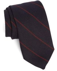 Strong Suit - Stripe Wool & Silk Tie - Lyst