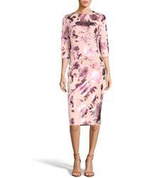 Eci - Floral Midi Dress - Lyst