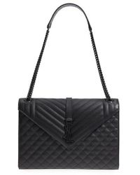 Saint Laurent - Large Cassandre Calfskin Shoulder Bag - - Lyst