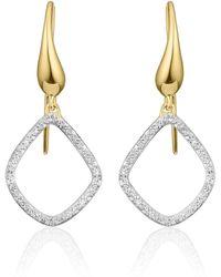 Monica Vinader - Riva Kite Diamond Drop Earrings - Lyst