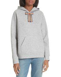 Maje - Jewel Bow Hoodie Sweatshirt - Lyst