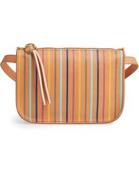 Madewell - The Simple Rainbow Stripe Pouch Belt Bag - - Lyst
