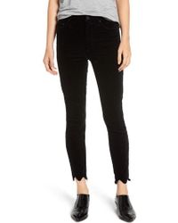 Mother - The Looker High Waist Chew Hem Ankle Skinny Jeans - Lyst