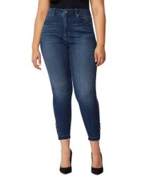 REBEL WILSON X ANGELS - Rebel Wilson The Vamp Crop High Waist Skinny Jeans - Lyst