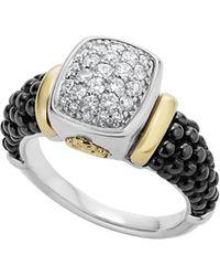 Lagos - 'caviar' Diamond Ring - Lyst
