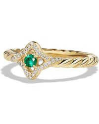 David Yurman - 'venetial Quatrefoil' Ring In Gold - Lyst