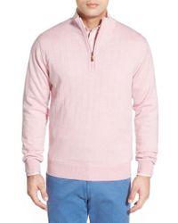 Bobby Jones - Windproof Merino Wool Quarter Zip Sweater - Lyst