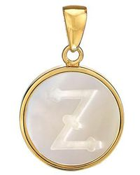 Asha - Mother-of-pearl Initial Charm - Lyst