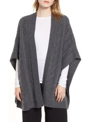 Nordstrom - Cashmere Open Poncho - Lyst