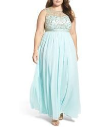Decode 1.8 - Beaded Illusion A-line Gown - Lyst
