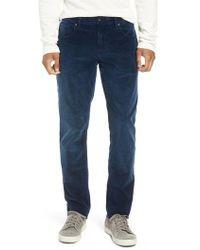 Hudson Jeans - Blake Slim Fit Straight Leg Corduroy Pants - Lyst