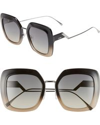 Fendi - 53mm Square Gradient Sunglasses - - Lyst