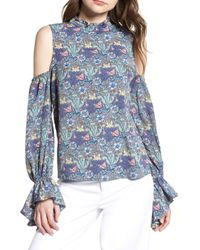 BISHOP AND YOUNG Bishop + Young Floral Cold Shoulder Top