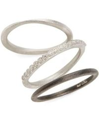 Armenta | New World Set Of Three Stacking Rings | Lyst