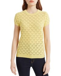ModCloth - Pointelle Sweater - Lyst