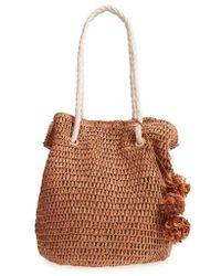 Tommy Bahama - Mama Straw Bucket Bag - Lyst