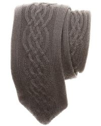 Hook + Albert - Cable Knit Wool Tie - Lyst