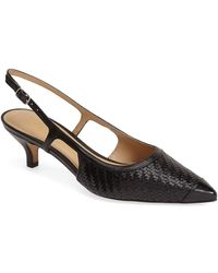 Trotters - 'kimberly' Woven Leather Slingback Pump - Lyst