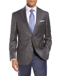 David Donahue - Connor Classic Fit Check Wool Sport Coat - Lyst