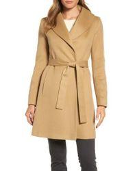 Fleurette - Shawl Collar Cashmere Wrap Coat - Lyst