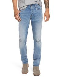 John Varvatos - Wight Slim Fit Straight Leg Jeans - Lyst