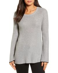 Vince Camuto | Tipped Bell Sleeve Sweater | Lyst