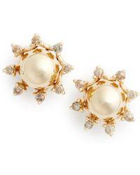 Anna Sheffield - 'starlight' Champagne Diamond Stud Earrings - Lyst