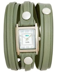 La Mer Collections - Saturn Leather Strap Wrap Watch - Lyst