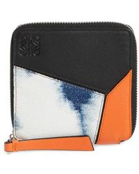 Loewe - Small Puzzle Leather Zip Around French Wallet - Lyst