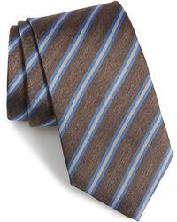 David Donahue - Stripe Linen & Silk X-long Tie - Lyst