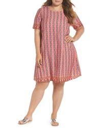 Glamorous - Galmorous Border Print T-shirt Dress - Lyst