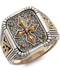 Konstantino - Stavros Square Signet Ring - Lyst