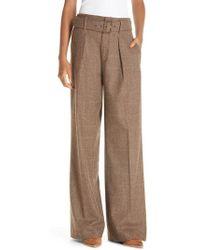 Polo Ralph Lauren - Relaxed Wide Leg Tweed Pants - Lyst