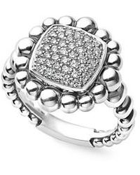 Lagos | Caviar Spark Square Diamond Ring | Lyst