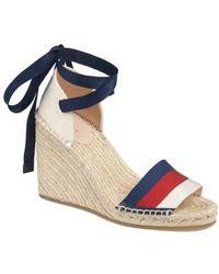Gucci - Web Espadrille Wedge Sandal - Lyst